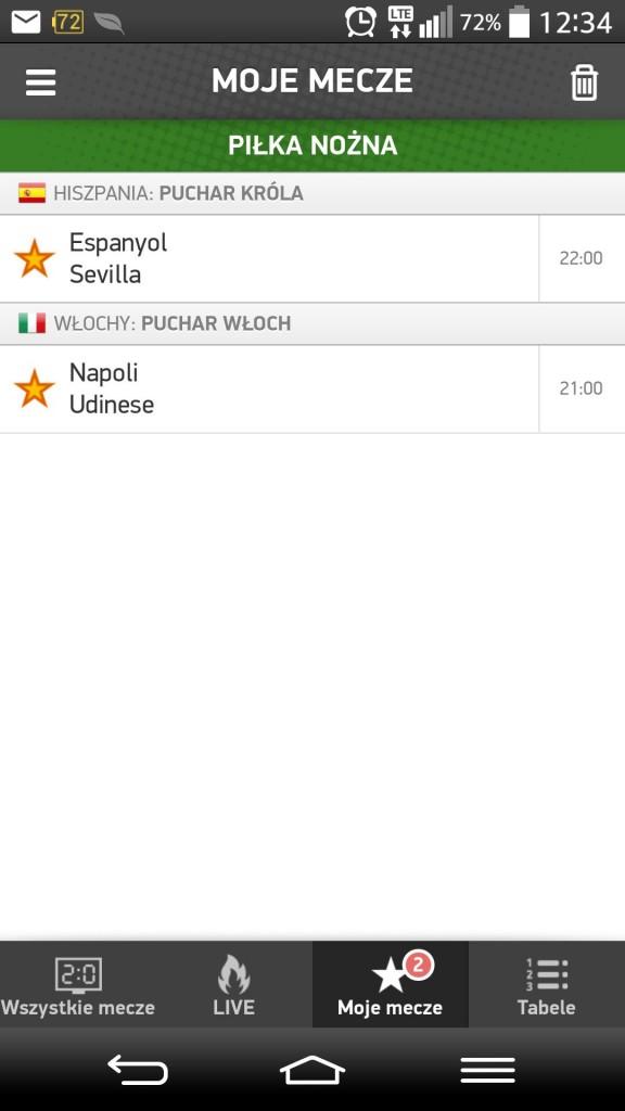 Live sports aplikacja
