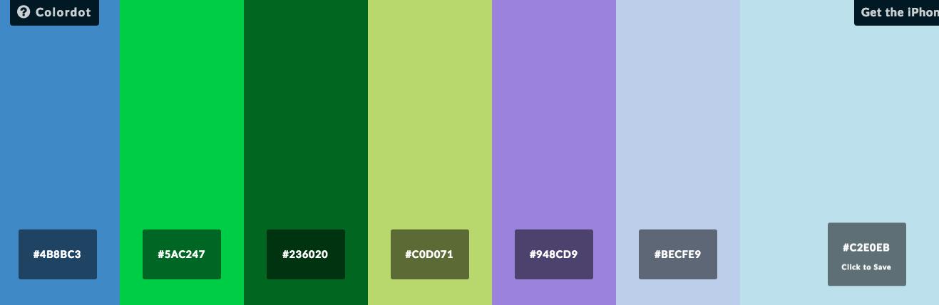 Colors - strona do wyboru kolorów