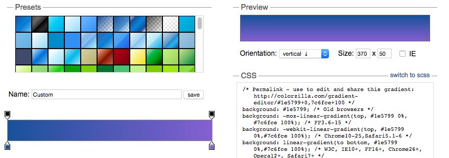 Colorzilla do tworzenia gradientów na strony www