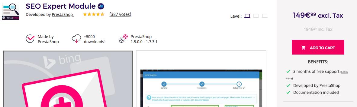 Presta Shop - dodatek do usprawnienia seo w sklepie internetowym