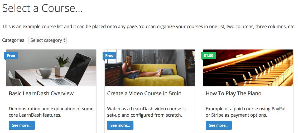 Learn Dash WordPress do kursów